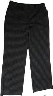 Jones New York Collection Women's Wool Dress Pants Pin-Stripe 12 Black