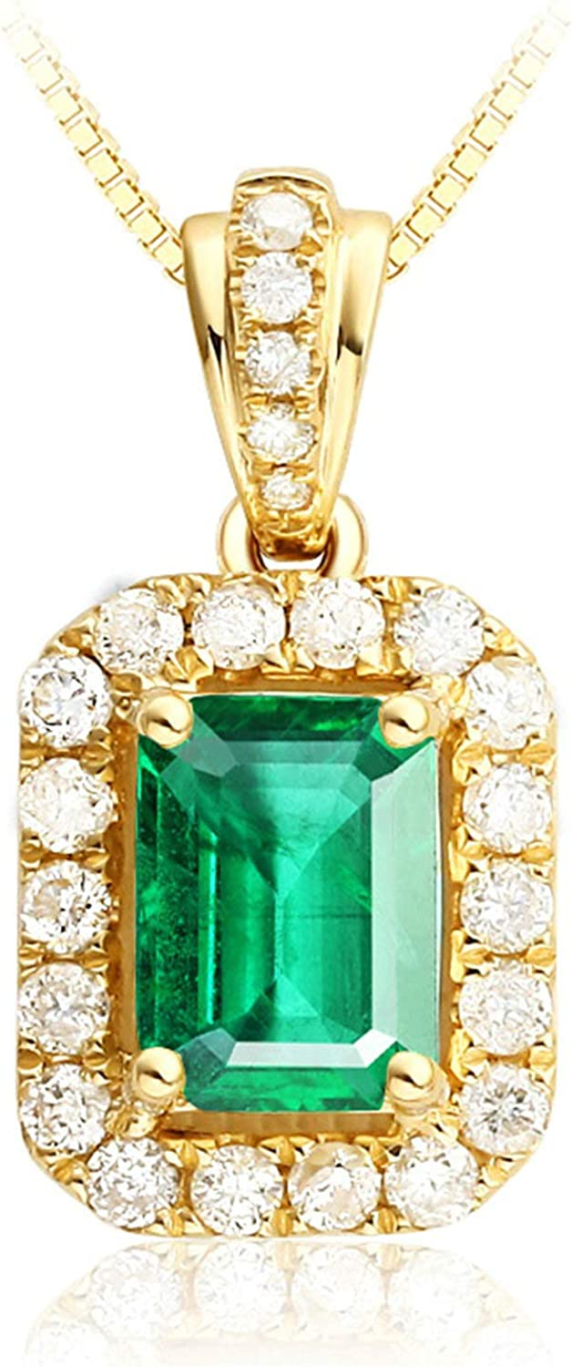 Aokarry 18K Outlet ☆ Free Shipping Gold Necklace for Spring new work one after another Women Square