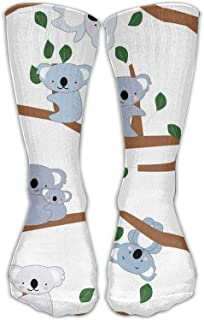 Comfort Athletic Womens Stockings Cute Koala Bear para calcetines deportivos transpirables Rodilla Cálido Talla única