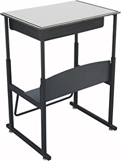 Safco Products AlphaBetter Adjustable-Height Desk, 1204GR, 28