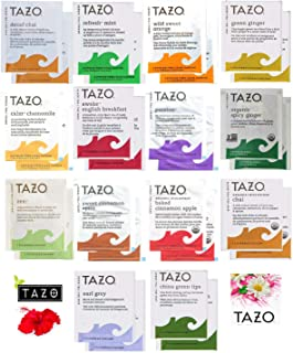 Tazo Tea Bags Sampler Assortment Variety Pack Gift Box - 42 Count - 14 Different Flavors Perfect Variety – Passion Fruit, ...