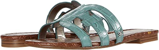 Blue Sage Splendor Croco Leather
