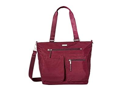 Baggallini New Classic Any Day Tote with RFID Phone Wristlet (Eggplant) Tote Handbags