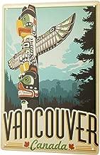 Tin Sign XXL Adventurer Vancouver Canada Totem Pole