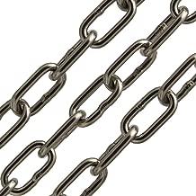 opiol Quality Cadena de elevaci/ón Cadena langgliedrig Acero Inoxidable A4/DIN 763/ | largo de gliedrig, cadena de ancla, eslabones Cadena, cadena de acero