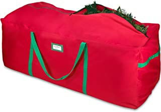 Christmas Tree Storage Bag - Extra Large Artificial Xmas Tree Duffel Style Storage Bag – Fits Up Till 9 Ft. Trees - Heavy Duty 600D/ Inside PVC Material for Extra Durability - Sturdy & Water-Resistant