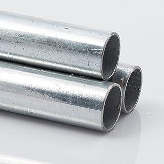 Tubo redondo de acero galvanizado en caliente, dimensiones y longitud a elegir, 48,3 x 3,2 mm 2000 mm, 1