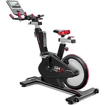 Sportstech Elite Indoor Cycle Bike – Deutsche Qualitätsmarke - Video Events & Multiplayer APP, computergesteuertes Magnetbremssystem,26KG Schwungrad, SX600 Speedbike Sportlenker, Ergometer inkl. eBook