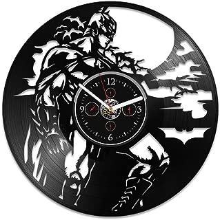 Batman Vinyl Wall Clock, Batman Gift, DC Comics Clock, Vinyl Wall Clock, Batman Clock, Vinyl Record Wall Clock, Gift For Kids, Wall Clock Large, Clock Batman, Birthday Gift, Gift For Man, DC Gift