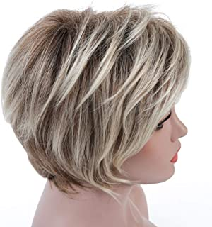 short curly wig blonde