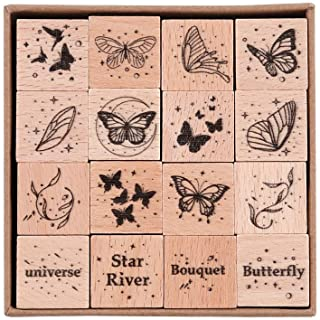 Butterfly Bird Tiny Face Pattern or Happy Day Rubber Stamps