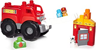 Mega Bloks Storytelling Fire Truck Rescue - 12 Months & Above - Multi Color