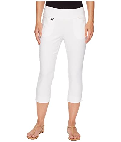 Lisette L Montreal Solid Magical Lycra(r) Capri Pants (White) Women