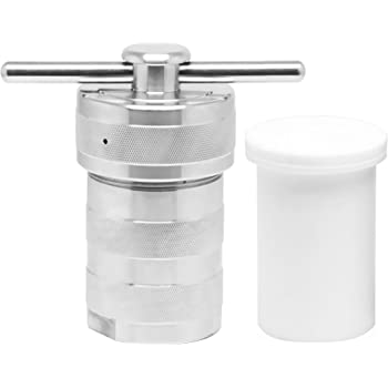 BAOSHISHAN 100ML Hydrothermal Synthesis Autoclave Reactor 6Mpa 240C with Explosion-proof Pressure Relief Hole PTFE Lining Acid and Alkali Resistance (100ML)