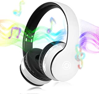 $36 » Sponsored Ad - Bluetooth Headphones with Microphone,5.0 Bluetooth Headset Over Ear with Deep Bass,Hi-Fi,Built in Mic,15Hou...