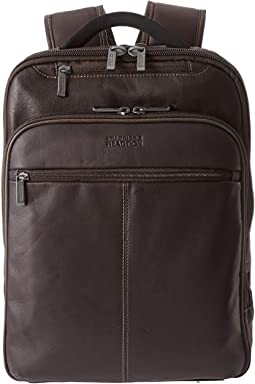 Kenneth Cole Reaction Back-Stage Access Colombian Leather Computer Backpack