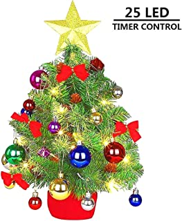 MAOYUE Tabletop Christmas Tree 20 Inch Artificial Christmas Tree Lighted Christmas Tree Mini Christmas Tree with Lights 8 Modes for Christmas Decorations, Home Decor, Office, Kitchen, Dining Table
