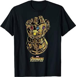 Marvel Avengers Infinity War Gauntlet Gems Graphic T-Shirt T-Shirt