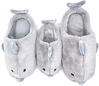 Dolphin Warm Parent-Child Slippers Kids to Adults, Cute Animal Home Winter Slipper Shoes