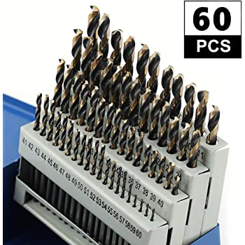 Bosch 60 piece Metal Index Black Oxide Drill Bit Set # BL0060