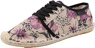 Hommes Espadrilles rétro Graffiti à Lacets Chaussures décontractées Basses Plates antidérapantes légères Chaussures en Toi...