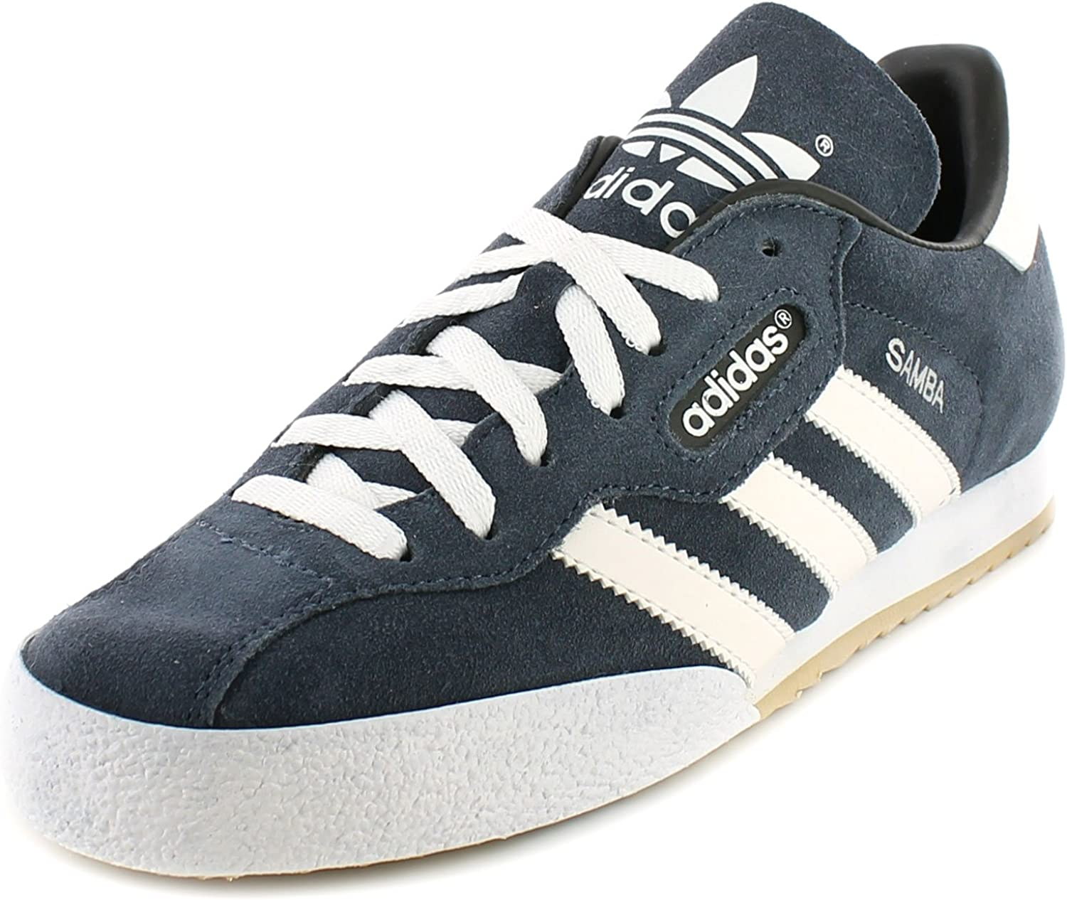 Adidas Originals Samba Super Mens Other Leather Material Running Trainers Navy Suede White