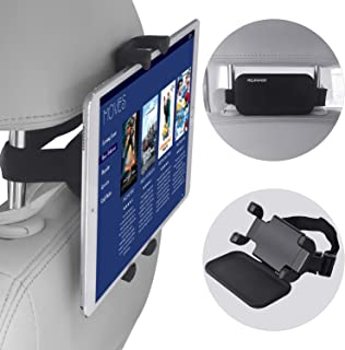 """Car Headrest Mount, NEARPOW 360°Rotation Velcro Tablet Holder for Car Back Seat, Angle Adjustable and Universal Vehicle, Stand Cradle Compatible with 4.7-12.9"""" iPad Air/Mini/Pro Samsung Galaxy Tabs"""