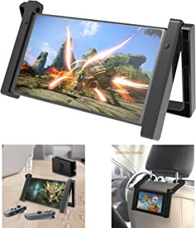 Car Holder and Adjustable Table Stand for Nintendo Switch, 2 in 1 Portable and Adjustable Playstand for Nintendo Switch