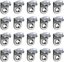 aufodara Rechthoekige wandbevestigingsclips voor rekken met zuignap, glazen planksteunen, 20 stuks