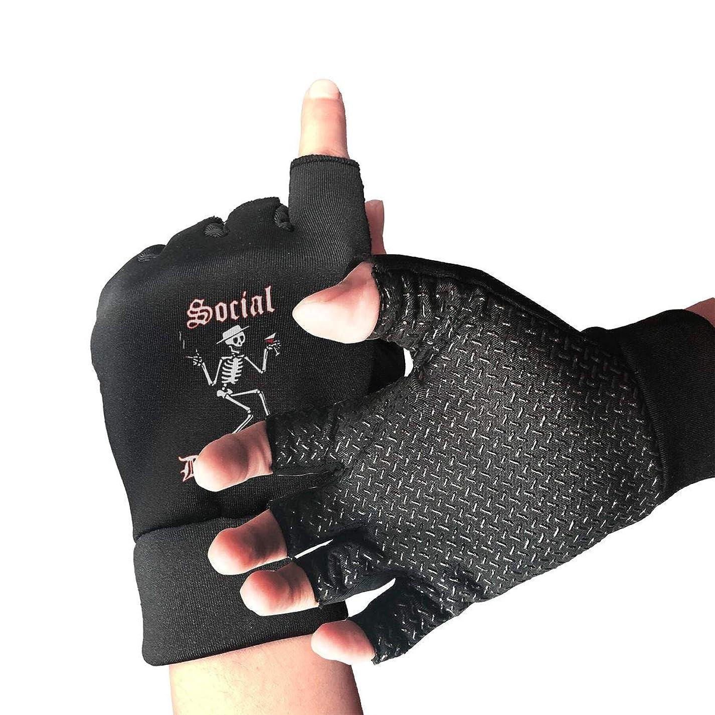 交じるロバプロトタイプフィンガレス グローブ 手袋 ハーフフィンガー ソーシャル?ディストーション サイクリンググローブ 指なし手袋 滑り止め 伸縮性 通気性 スポーツ アウトドア バイク 登山 ユニセックス