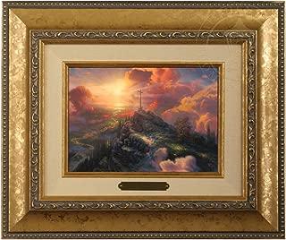 Thomas Kinkade The Cross Brushwork (Gold Frame)