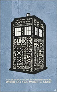 Doctor Who, Tardis, Where DO You Want to Start Word Art Print Poster (12