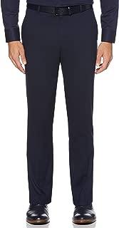 Men's Solid Herringbone Slim Fit Pant