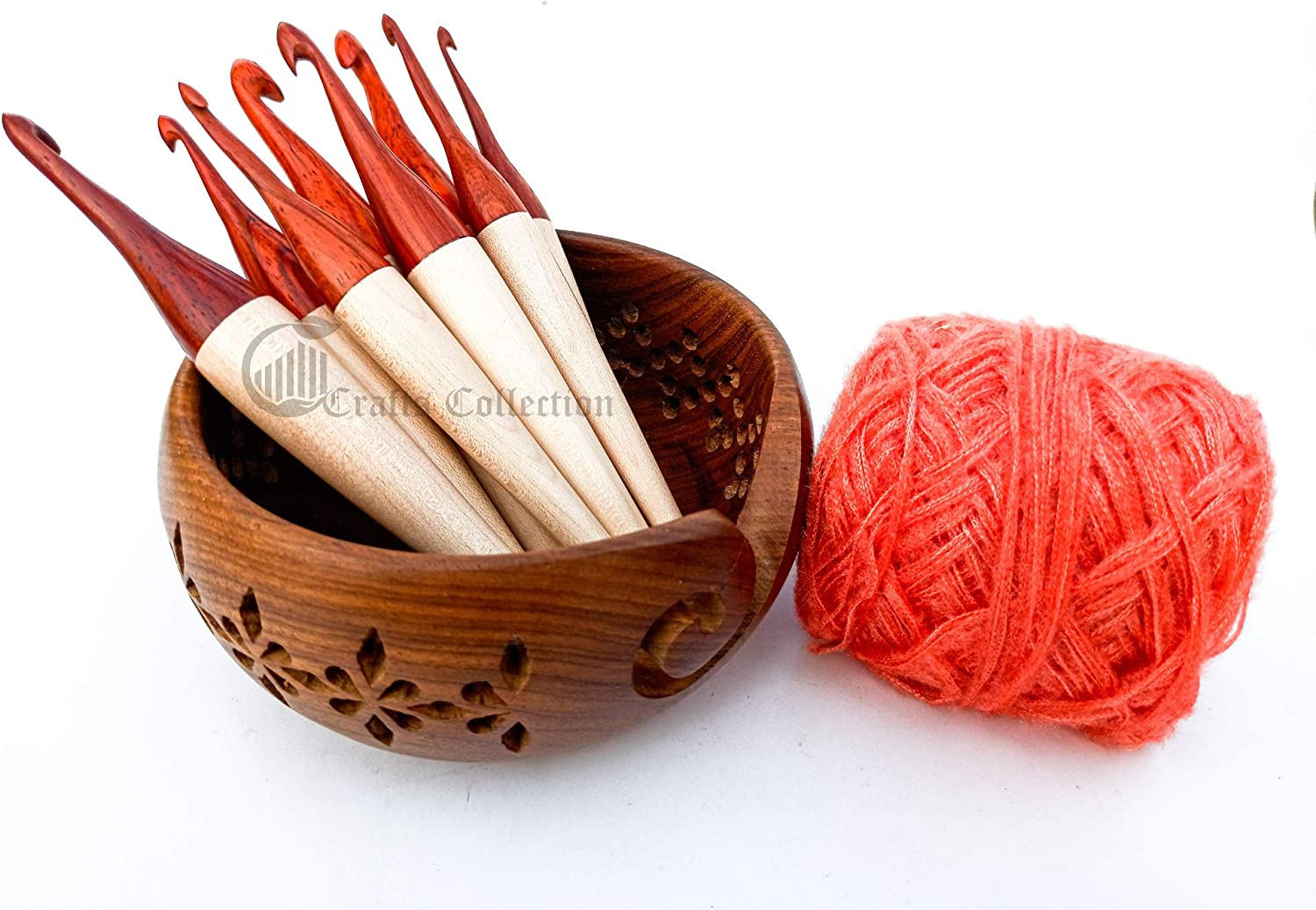 m s crafts Special Campaign discount collection 12 Sizes Maple nd Wooden Crochet Rosewood