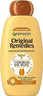 Garnier Original Remedies - Champú Reconstituyente Tesoros de Miel para Pelo Seco o Dañado Quebradizo - 300 ml