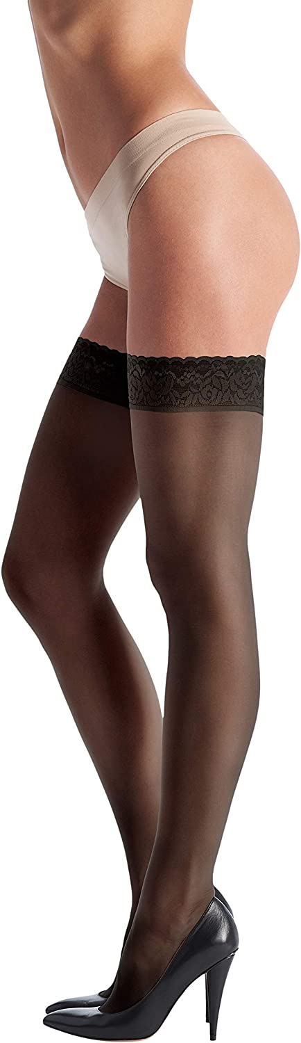 Oroblu Chic Up 15 Lace Top Thigh Highs