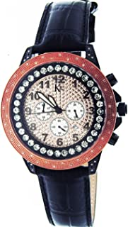 Techno Com By Kc 50mm 0.55ct Diamond Two Tone Spin Face
