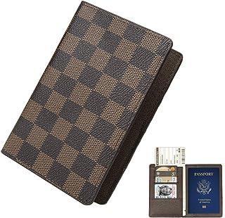 Multi-purpose Blocking Travel Passport Wallet Holder Cover Case Leather RFID Travel Organizer Card Holder (Passport Brown)