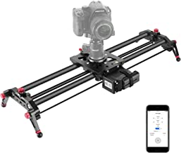Neewer Camera Slider Motorized, 31.5-inch APP Control Carbon Fiber Track Dolly Rail with..