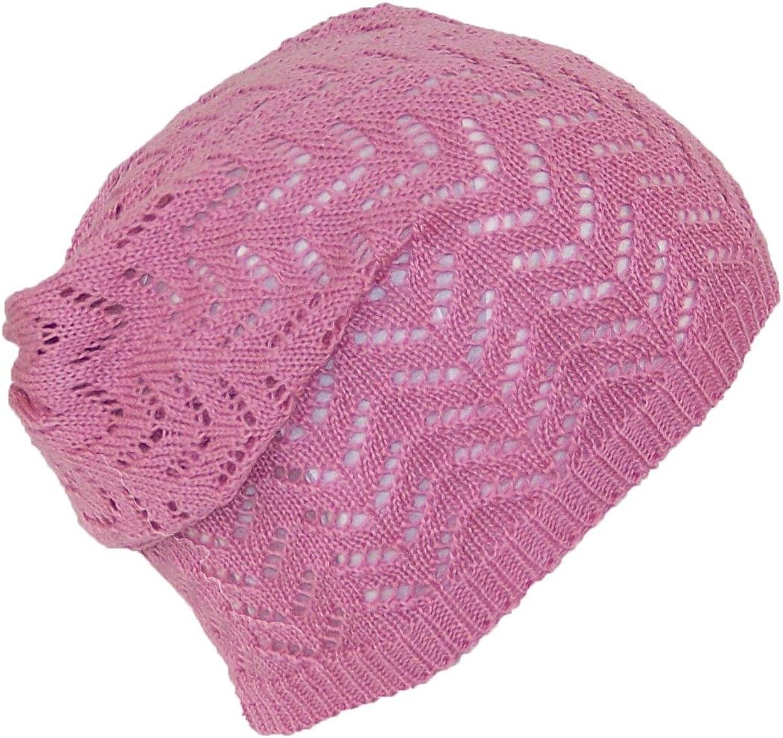 D&Y Women's Loose Knit Lightweight Chevron Pattern Beanie Skull Cap (One Size)