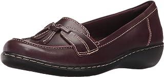 Clarks Women's Ashland Bubble Loafer, Burgundy Patent Leather, 8 M US