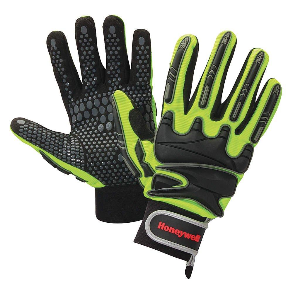North Safety / Honeywell - MPCT1000/9L - Impact Gloves, Black/Yllw, Straight, PR
