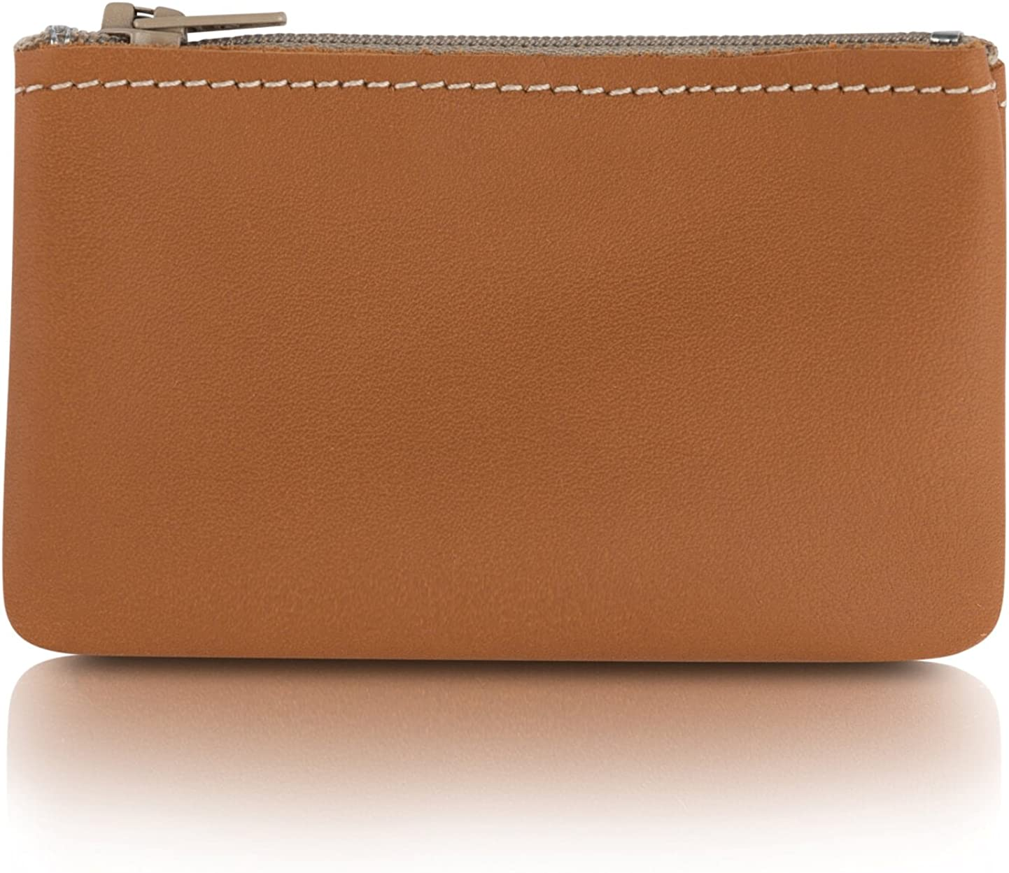 Made In USA. 6 inch 4.5 credit cards holder sizer Gold Color Super Soft Coin Purse 4 Inch size Deerskin Leather Zipper Pouch