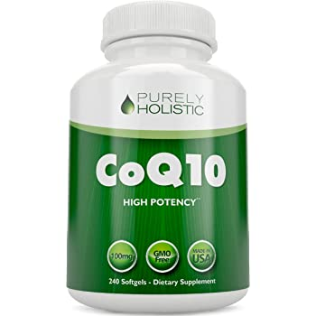 CoQ10 240 SoftGels 100% Money Back Guarantee High Absorption Coenzyme Q10 Made in The USA to GMP Standards Up to 8 Month's Co Q 10 Supply