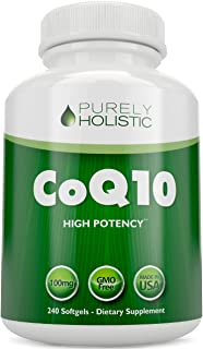 Sponsored Ad - CoQ10 240 SoftGels 100% Money Back Guarantee High Absorption Coenzyme Q10 Made in The USA to GMP Standards ...