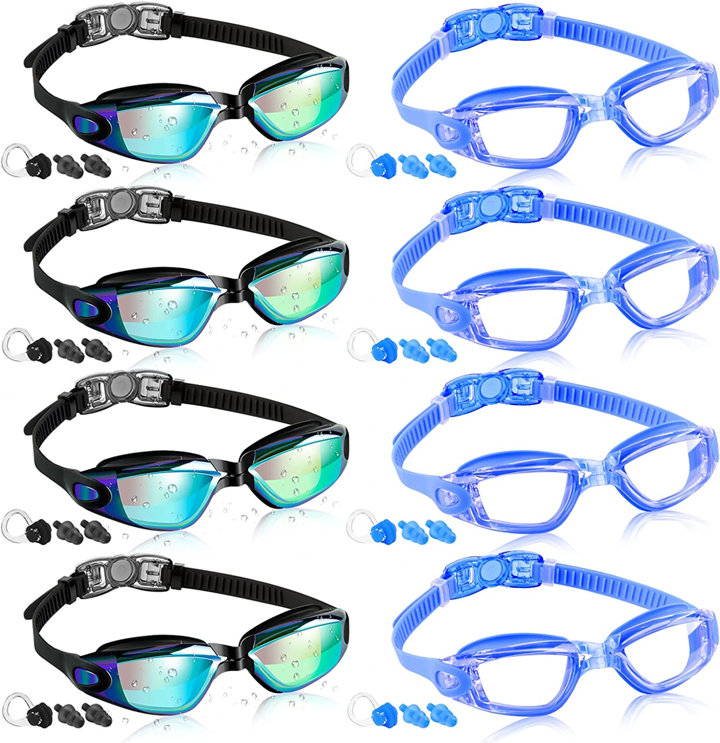 COOLOO 2 8 Pack Swimming Goggles Bombing free shipping service Adult Kids Me for Swim