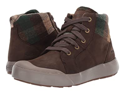 Keen Elena Mid (Mulch/Plaid) Women