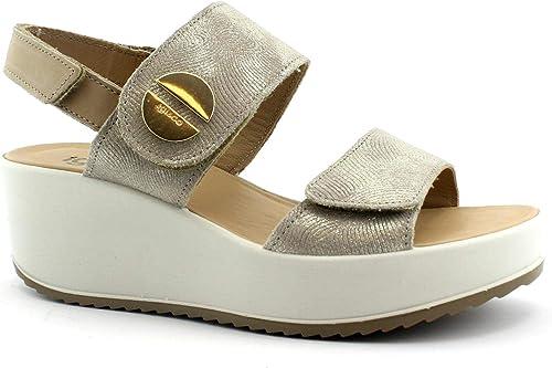 IGI & CO 3173399 Chaussures de Platine Platine Femmes Sandales compensées Larmes de Peau en Cuir  2018 dernier