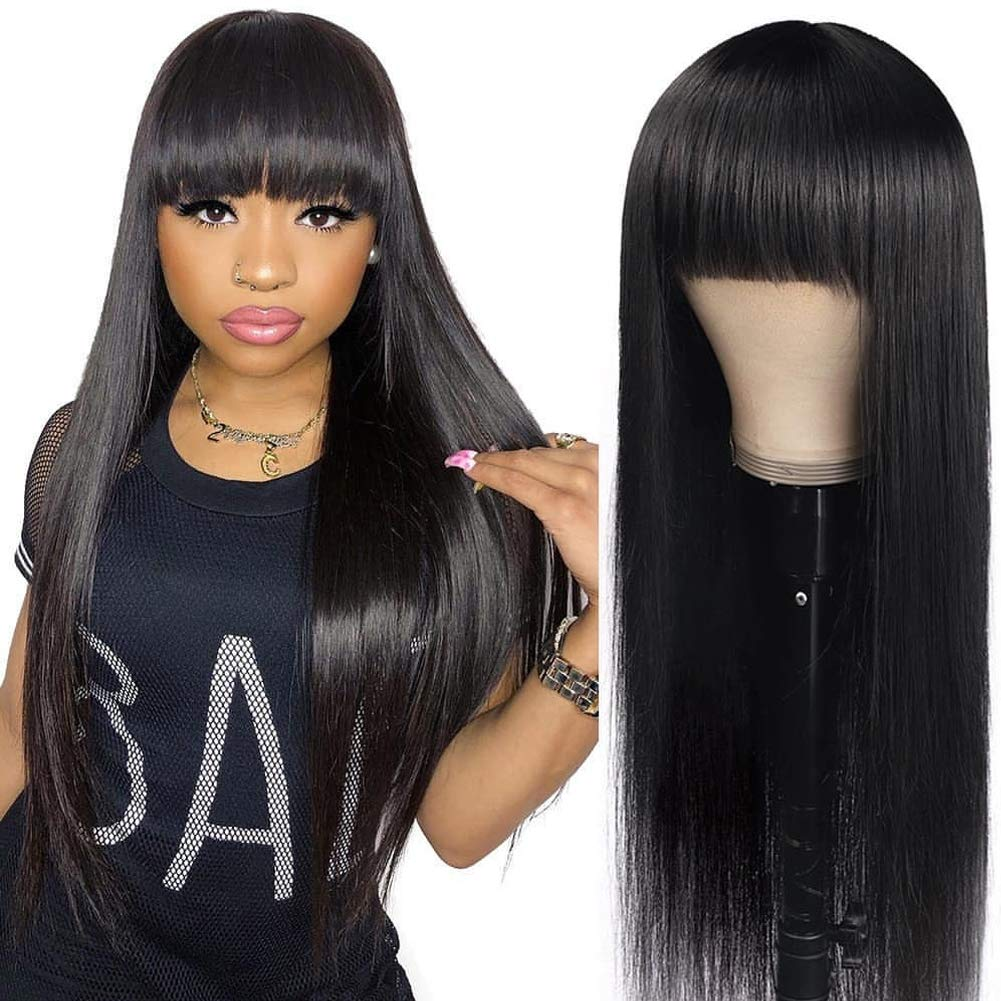 DACHIC Human Sales for sale Discount is also underway Hair Wigs with Bangs Wig None Brazilian Lace Front