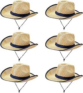 6-Pack Australian Dundee Safari Hats - Bulk Halloween Costume Accessories - Beige Zookeeper Hat - Explorer Outdoor Gear - Dress Up, Theme Party, Roleplay, Cosplay Headwear for Kids